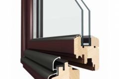 okapnice krídlová a rámová na reze okna